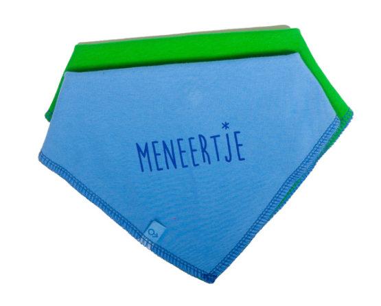 M*M Meneertje Bandana slab blauw/groen