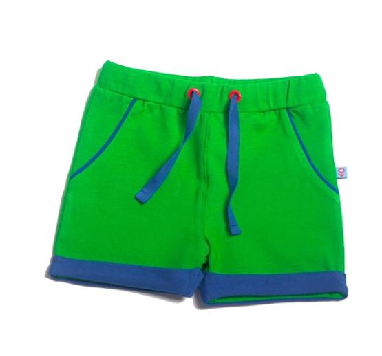 M*M Meneertje short groen – 3-6 maand