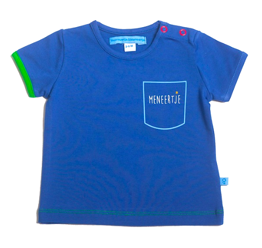 M*M Meneertje Shirt Meneertje Tekst – 6-12 maand