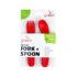 JJ Rabbit ergo Fork + Spoon rood