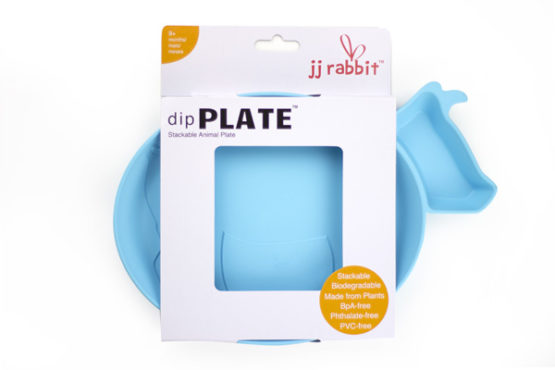 JJ Rabbit dipPLATE blauw koe verpakt