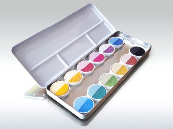 Oekonorm Waterverf 12 kleuren in blik-9368