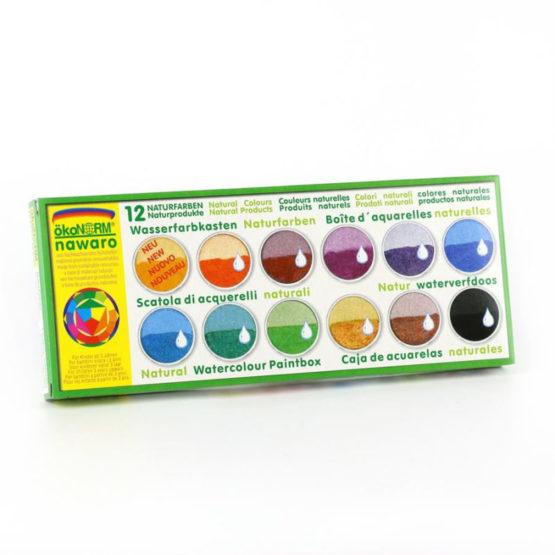 Oekonorm Waterverf 12 kleuren in blik