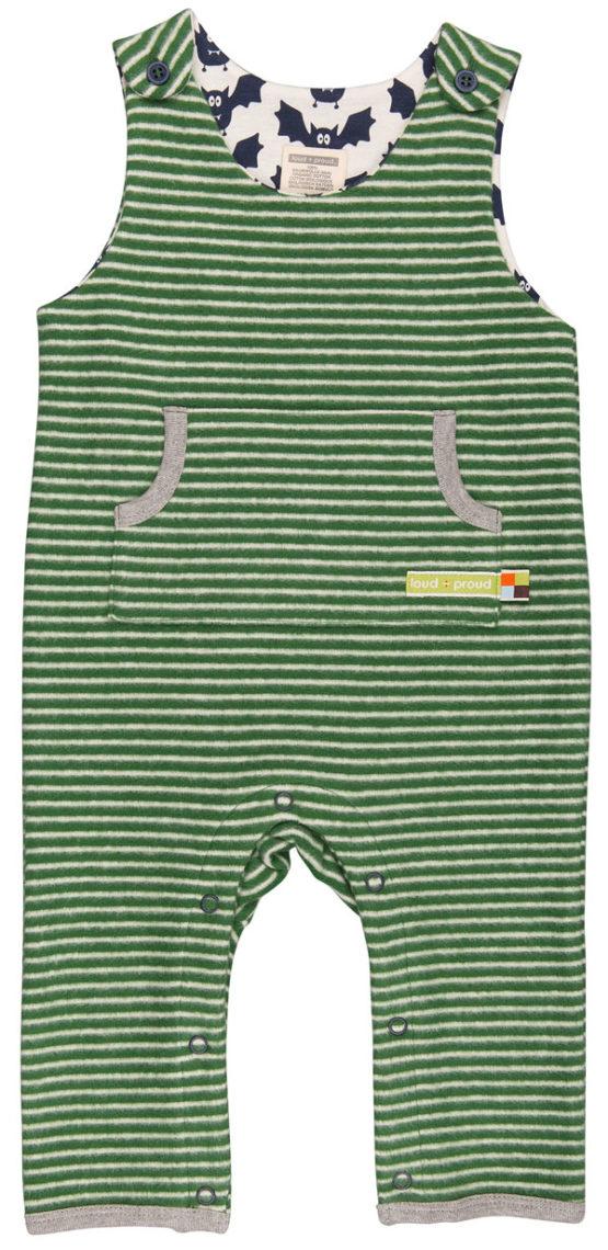 Loud + Proud jumpsuit Vleermuis groen gestreept