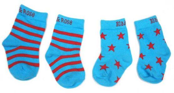 Blade & Rose sokken Atol blauw en rood