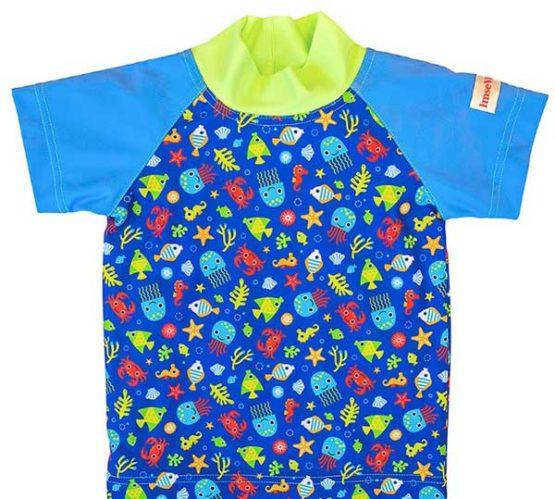 ImseVimse Blue Sea Life UV-shirt – 86/92