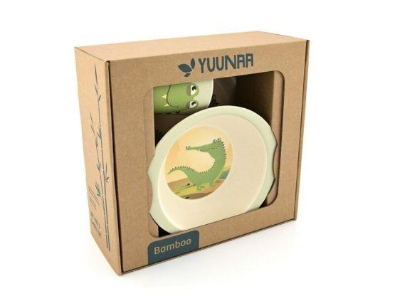 Yuunaa bamboeservies Krokodil-12775