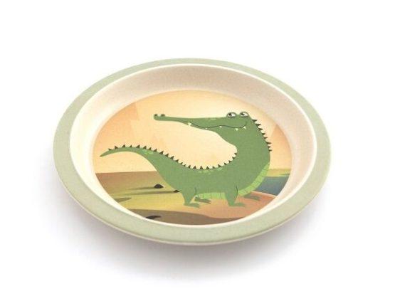 Yuunaa bamboeservies Krokodil-12776