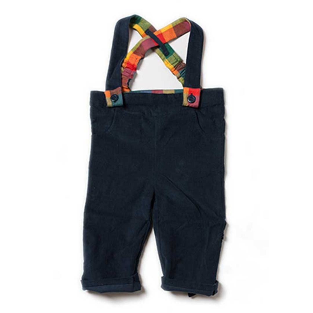 Little Green Radicals dungaree Navy Bubble bottoms – 80