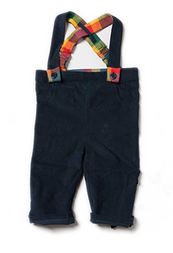 Little Green Radicals dungaree Navy Bubble bottoms – 98