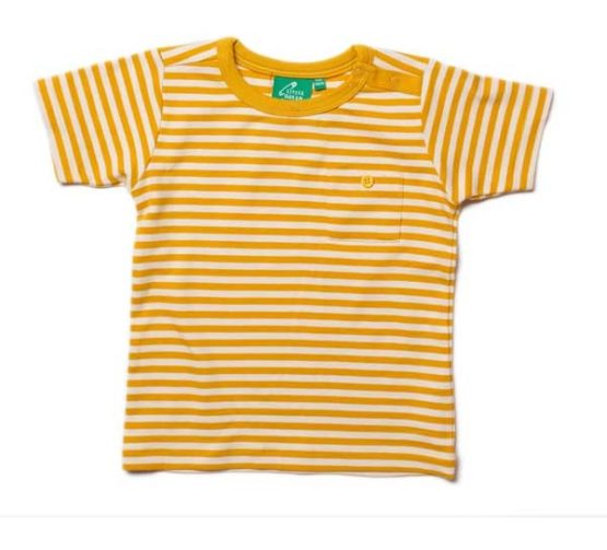 Little Green Radicals t-shirt Gold Stripe