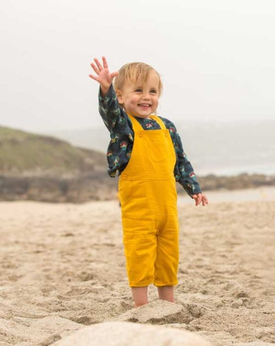 Little Green Radicals Gold Classic Dungaree-14413