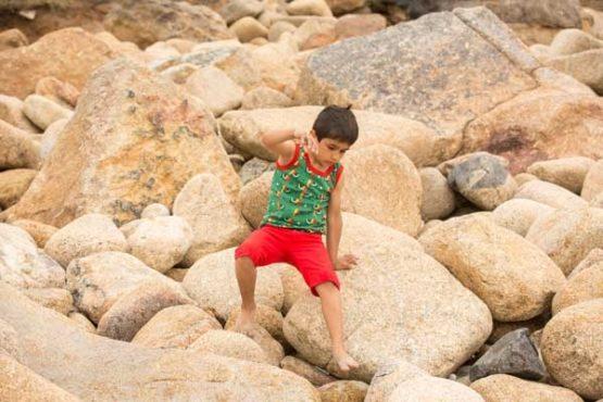 Little Green Radicals Red Beach Short-14455