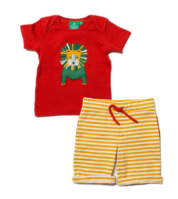 Little Green Radicals Gold Sunshine Beach Short-14604