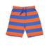 Toby Tiger short Orange/Blue stripe-0