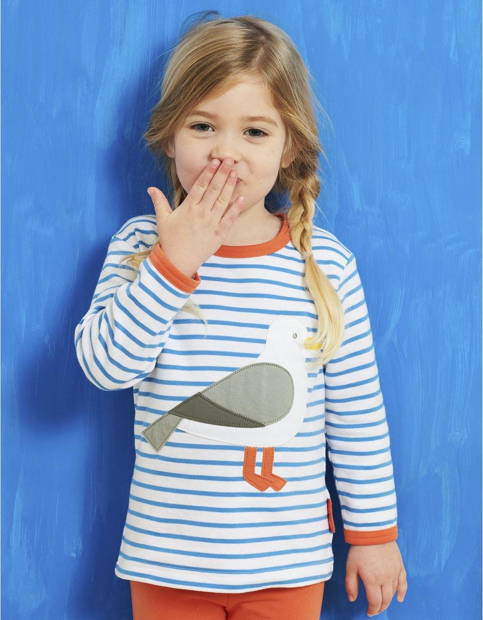 LSANSEAGULL+Organic+Seagull+Applique+LS+T-Shirt