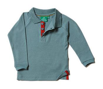Little Green Radicals longsleeve polo Winter Blue