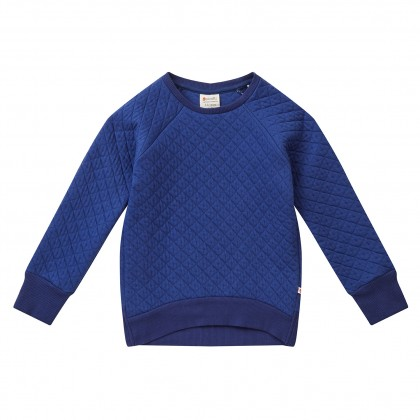 Piccalilly sweater Quilted donkerblauw