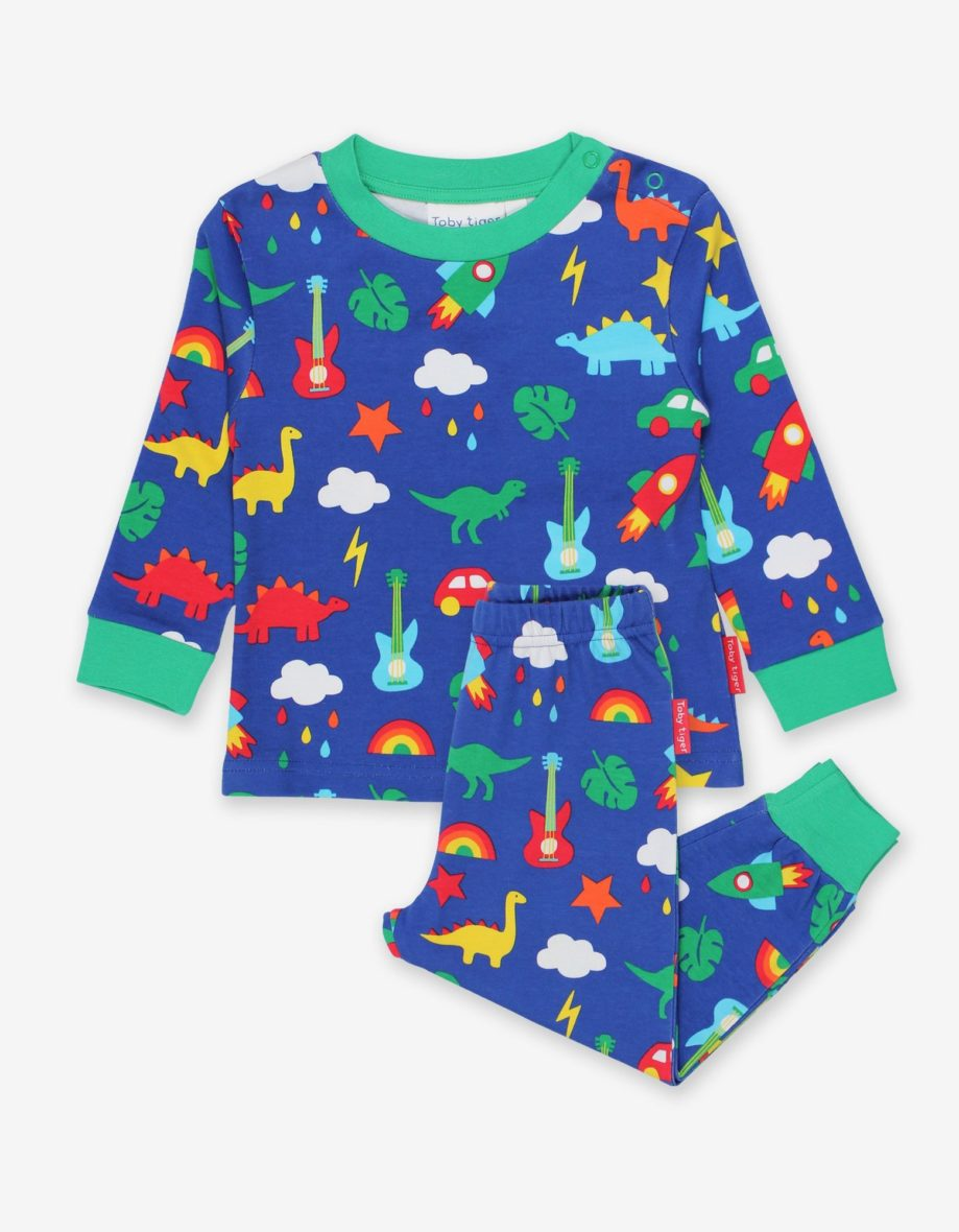 Toby Tiger pyjama Blauw Playtime Mix-Up