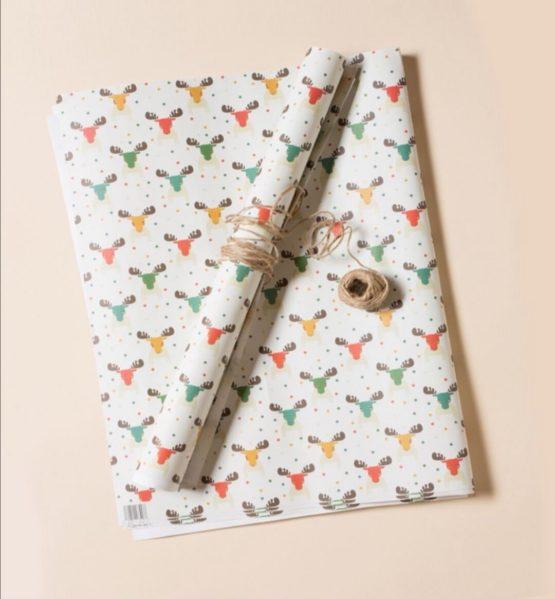 Inpakpapier LGR kerst elanden