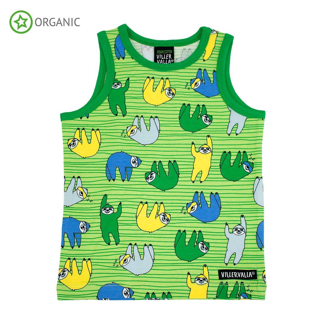 Villervalla hemd Sloth groen