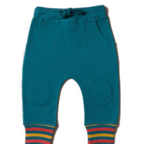 Little Green Radicals joggingbroek Navy Rainbow Rib