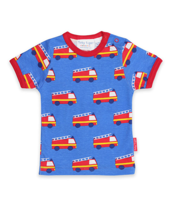 Toby Tiger t-shirt Brandweerauto