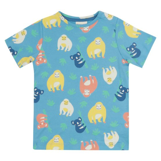 Piccalilly t-shirt Oerang-oetan all-over print