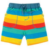 Frugi short Multi Rainbow Stripe