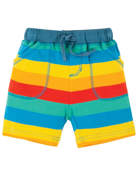 Frugi short Multi Rainbow Stripe