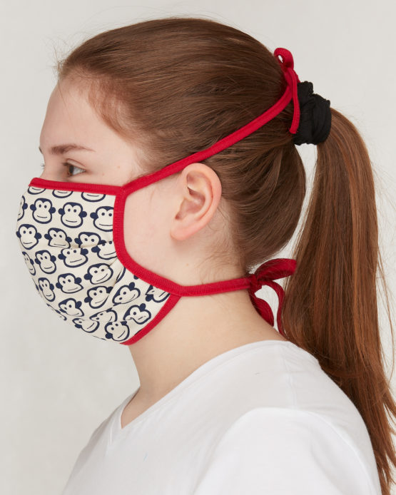 Loud + Proud mondmasker volwassenen aapjes zij