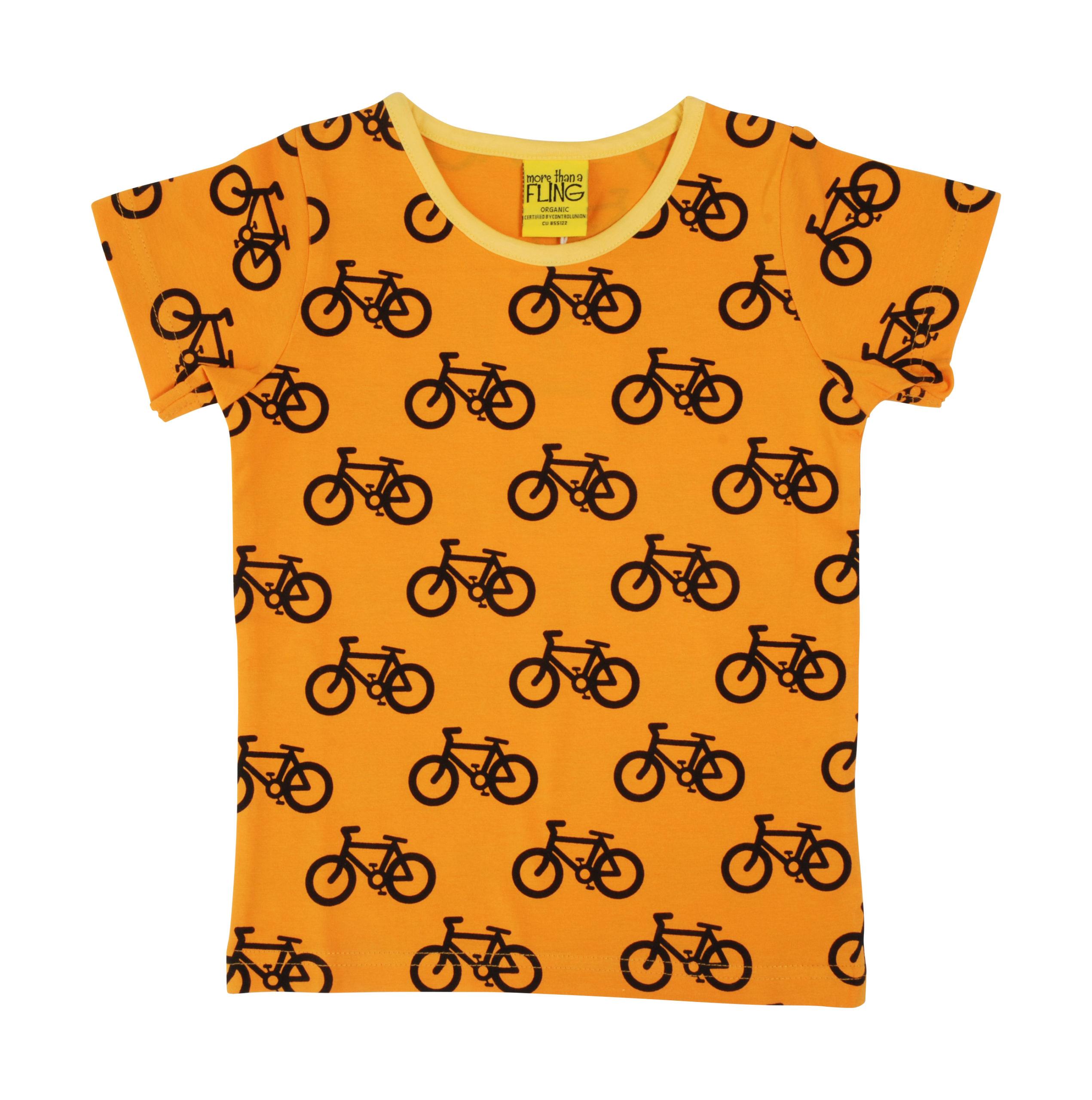 Duns t-shirt Bike Light Orange