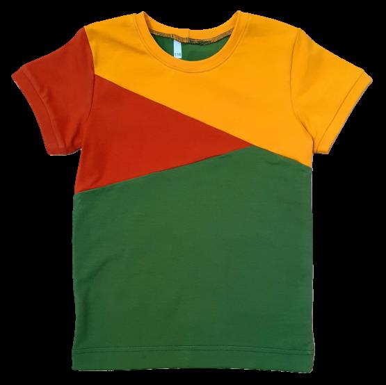 Joos t-shirt groen-roest-oker