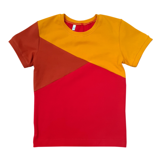 Joos t-shirt rood-roest-oker