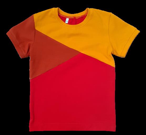 Joos t-shirt rood-roest-oker