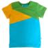 Joos t-shirt blauw-oker-groen