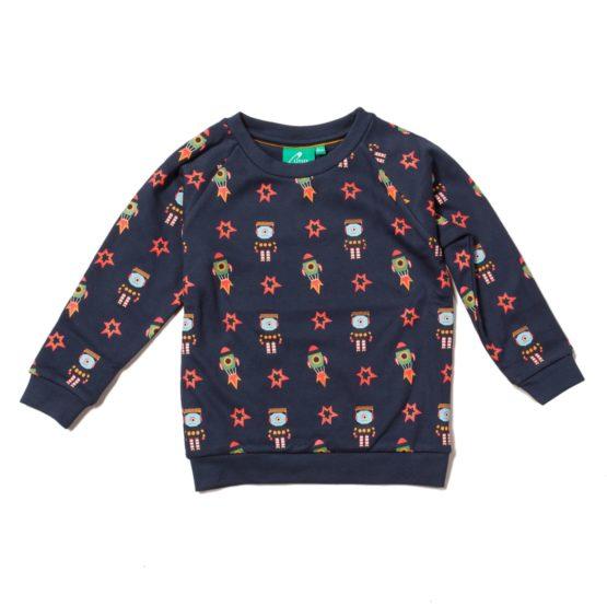 Little Green Radicals sweater Blast Off
