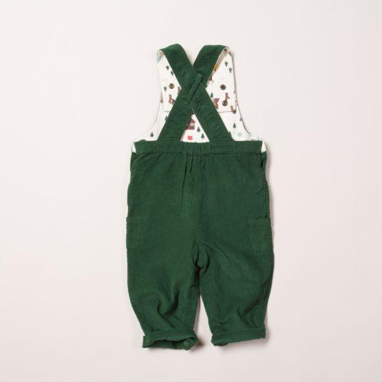 Little Green Radicals dungaree Nordic Bear back