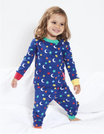 Toby Tiger pyjama Star print (glow in the dark)