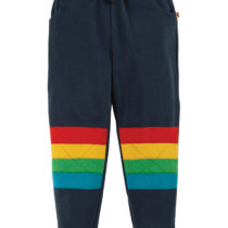 Frugi joggingbroek Kneepatch Indigo/Stripe
