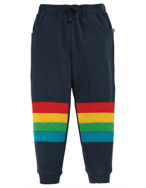 Frugi joggingbroek Kneepatch Indigo/Stripe
