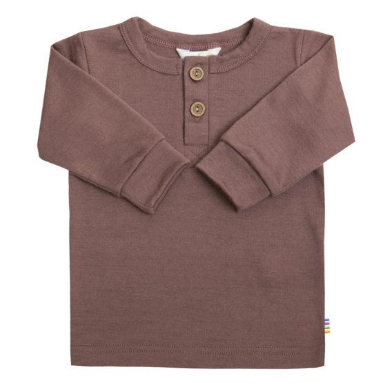 Joha longsleeve shirt merinowol oudroze
