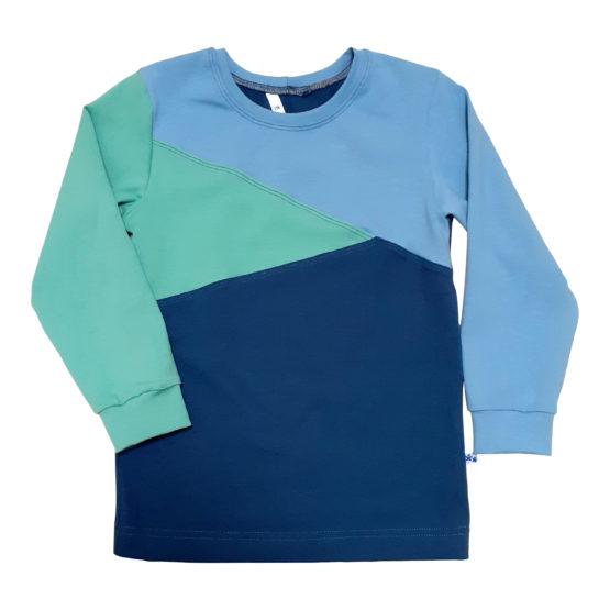 Joos longsleeve colorblock blauw