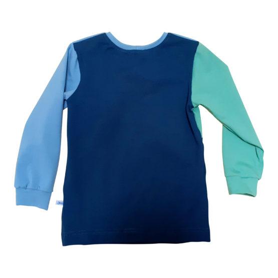 Joos longsleeve colorblock blauw back
