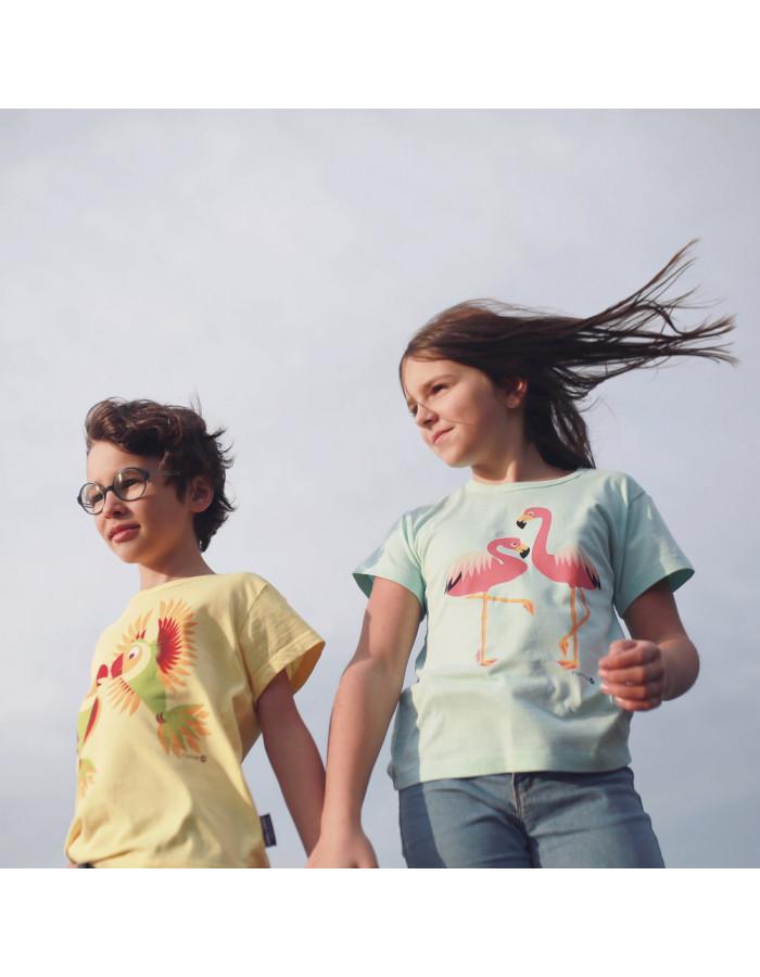 t-shirt-bebe-enfant-manches-courtes-en-coton-bio-mibo-flamant-rose-coq-en-pate3