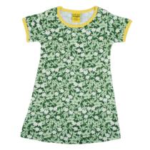 Duns short sleeve dress Wood Anemone Green