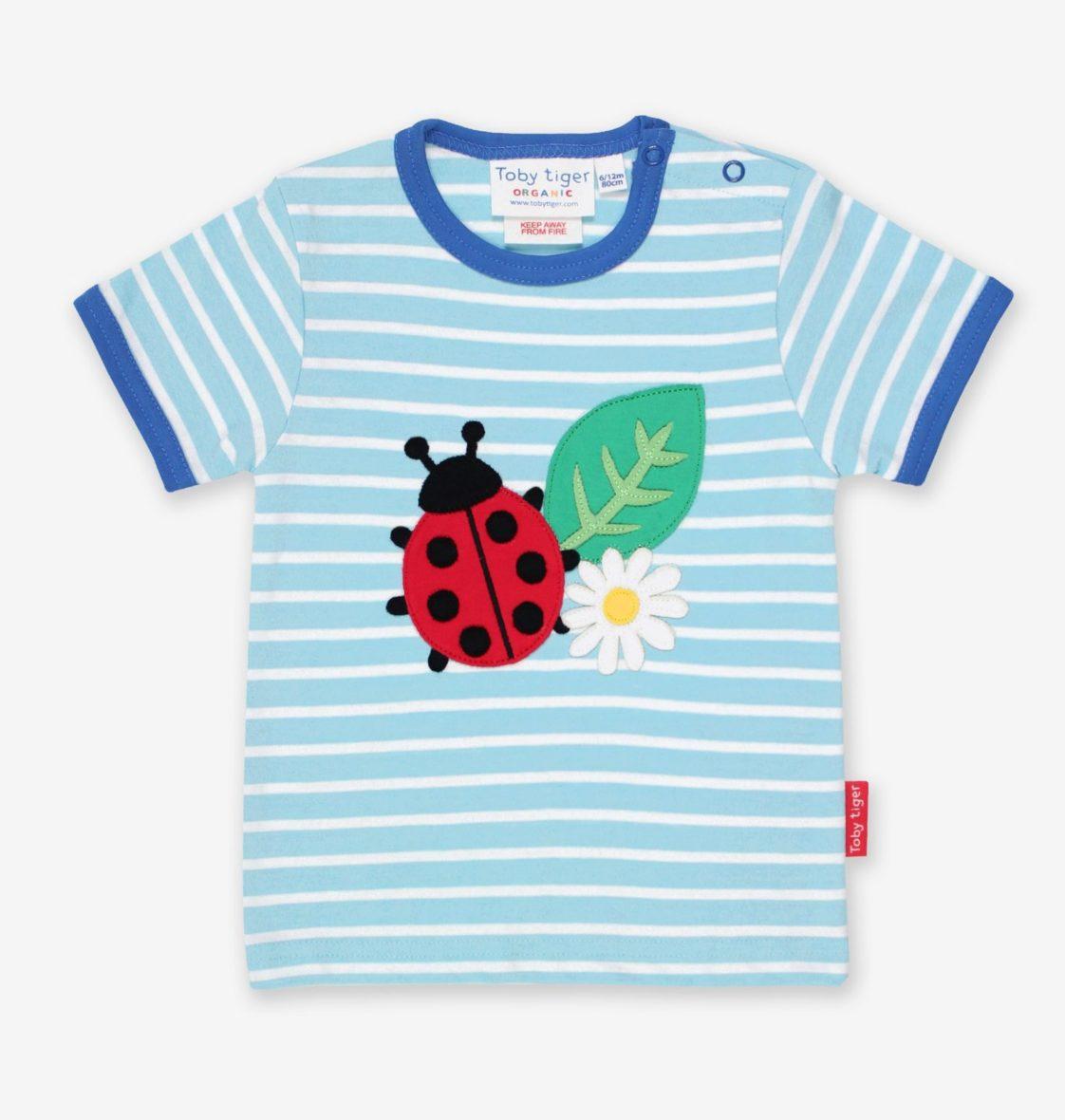 Toby Tiger t-shirt Ladybird Applique