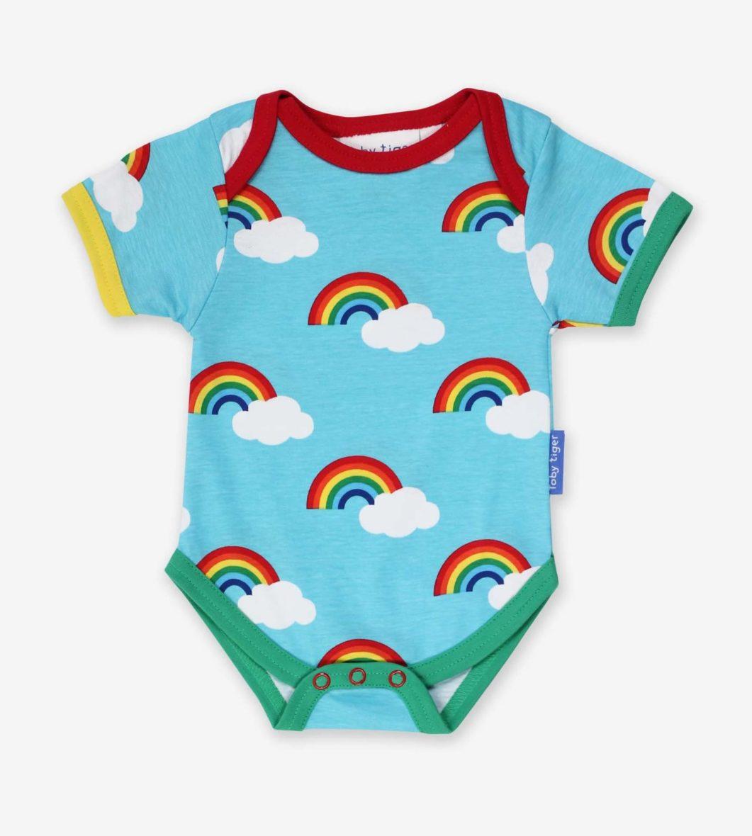 Toby Tiger romper Rainbow