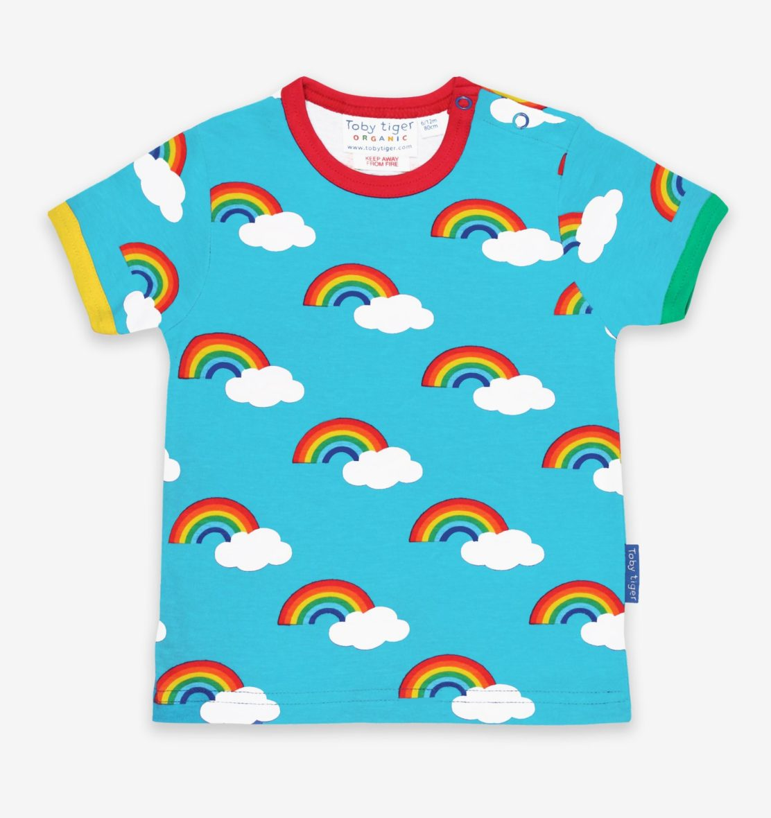 Toby Tiger t-shirt Turquoise Rainbow