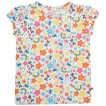 Piccalilly t-shirt Rainbow Meadow all-over print